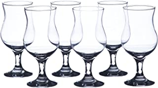 MADERIA Hurricane Cocktails Glasses Sets, 13 oz. (6-piece set, 12-piece set), Durable Tempered Glass, Restaurant&Hotel Quality (6)