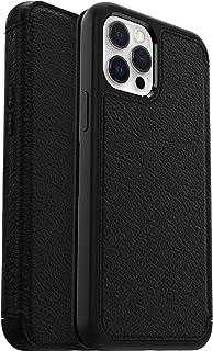 OtterBox Strada Series, Premium Leather Folio Case, Drop Proof Style for Apple iPhone 12 Pro Max - Black