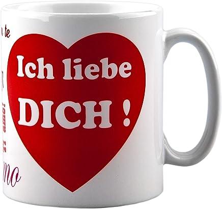 Preisvergleich für Tasse ich liebe dich - mit Aufdruck - ideale Geschenkidee als Kaffeetasse z.b. für Männer oder Frauen als Geschenk zum Geburtstag oder Valentinstag