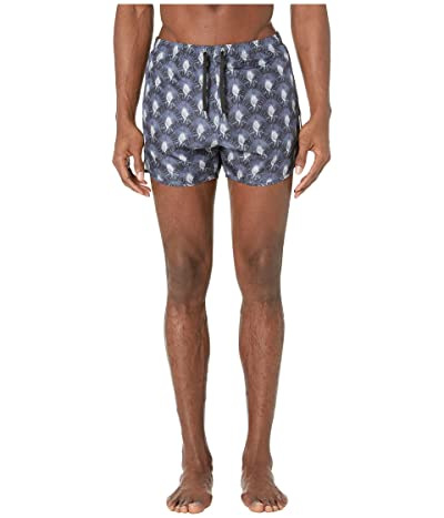 Neil Barrett Travellers Palm Swim Shorts (Navy/Black) Men