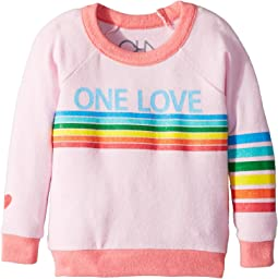 Chaser Kids Love Knit Raglan One Love Pullover (Toddler/Little Kids)