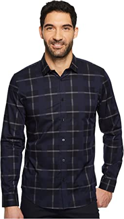 Calvin Klein - Large Scale Overlapping Plaid Button Down Shirt