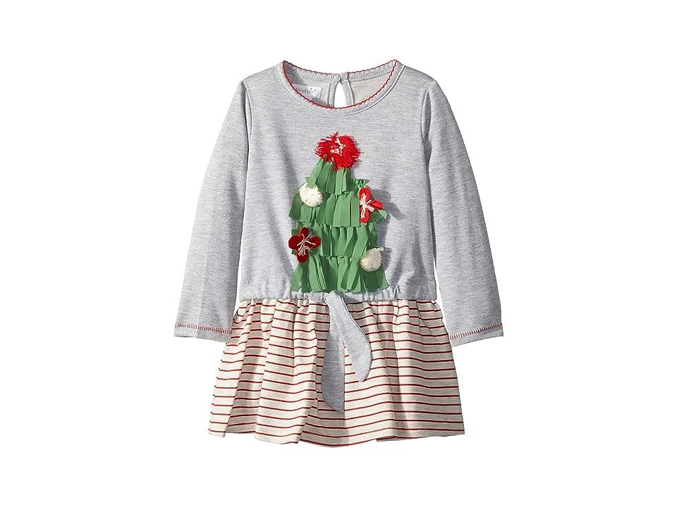 Mud Pie Christmas Very Merry Dress (Infant/Toddler) (Gray) Girl