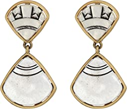 The Sak - Fan Double Drop Clip Earrings