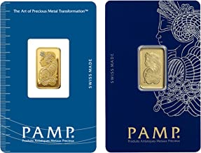 PAMP Suisse Gold Bar, 5 Gram.9999 Pure