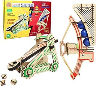 Butterfly EduFields Craft Catapult Kit , Build 2 Wooden 3D Puzzle Models , Fun Science Construction Toys for 5+ Year Old K...