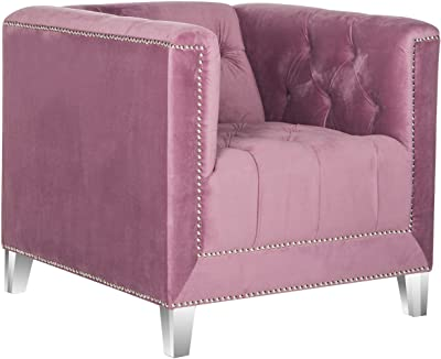 Safavieh Mercer Collection Hollywood Glam Plum Tufted Club Chair