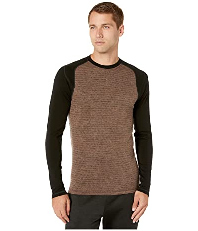 Smartwool NTS Mid 250 Pattern Crew Top (Bourbon Tick Stitch) Men