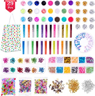 Anezus 178 Pack Resin Jewelry Making Supplies Kit for Resin, Slime, Nail Art, Resin Art Supplies Jewelry Making Kit with Resin Glitter, Wheel Gears Dry Flowers
