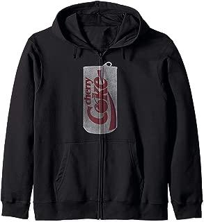 Coca-Cola Cherry Coke Can Silhouette Logo Zip Hoodie