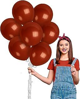 Dark Brown Balloons 12 Inch - Dark Tan Balloons - Matte Mocha Balloons 100 Pack - Chocolate Balloons for Woodland Baby Sho...