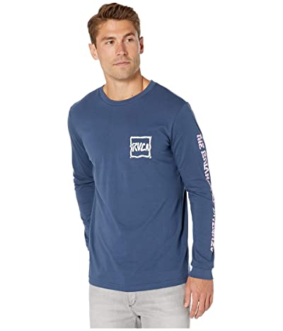 RVCA Sludged Long Sleeve T-Shirt (Seattle Blue) Men