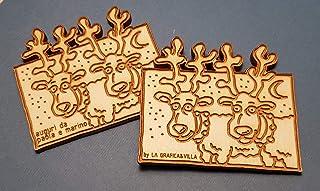 Set 5+ magneti natalizi in legno personalizzabile