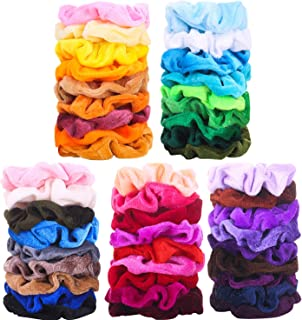 Vextronic 45 Pcs Hair Scrunchies Velvet Elastics Hair Bands Hair Accessories for Women and Girls' Hair Great Gift for halloween Thanksgiving day and Christmas
