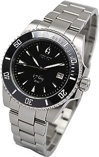 Aquacy 1769 HEI Matau Men's Automatic 300M Black Dive Watch ETA Swiss Movement Power Reserve 40 Hours Bracelet Bands