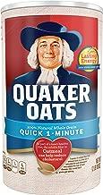 Quaker Oats 100% Whole Grain Quick 1 - Minute Net Wt 42oz. (2lb 10oz) 1.19kg