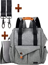 Baby Diaper Bag Backpack-Multi-function Baby Diaper Bag Backpack W/Stroller Straps,smart organizer,Large Capacity Nappy Changing pad Bag for Moms & Dads(Gray)