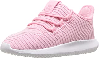 adidas Originals Unisex Tubular Shadow, Light Pink/White, 3.5 M US Big Kid