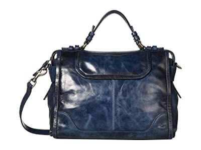 Frye Mel Satchel (Navy) Handbags