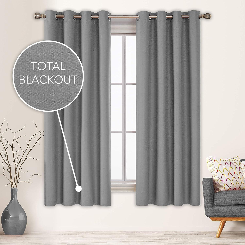 Deconovo Grey Total Blackout Curtains Bargain Thermal Bargain