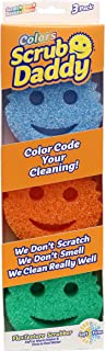 Scrub Daddy Colors- FlexTexture Sponge, Color Code Cleaning, Soft in Warm Water, Firm in..
