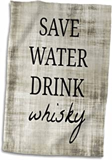 3D Rose Save Water Drink Whisky Hand Towel, 15