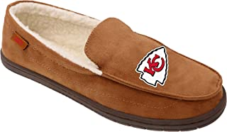 FOCO NFL Mens Football Team Logo Moccasin Slippers Shoes