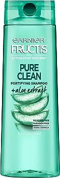 3-Pack Garnier Fructis 12.5 Fl Oz Pure Clean Silicone-Free Shampoo