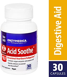 Enzymedica, Acid Soothe, Promotes Relief from Heartburn and Indigestion while Helping to Strengthen the Stomach Lining, Vegan, Non-GMO, 30 capsules (30 servings)