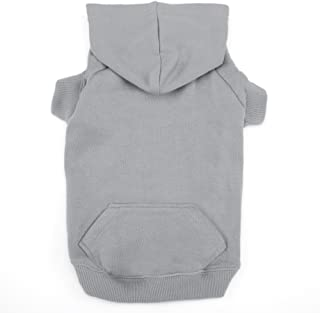 Casual Canine Basic Dog Hoodie, Large, Silver