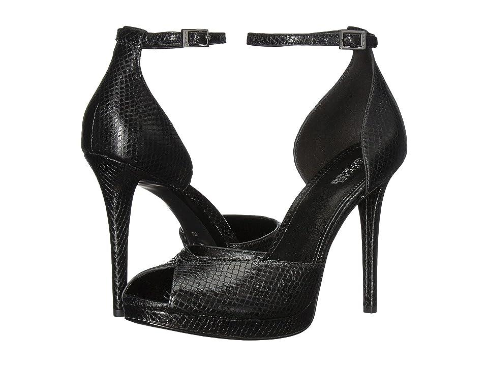 f4a43a14365  130.00 More Details · MICHAEL Michael Kors Tiegan Sandal (Black Shiny  Metallic Snake) High Heels