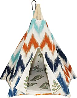 Exotic Nutrition Teepee Tent - Small Animal Bed - for Hamster, Sugar Gliders, Hedgehogs, Guinea Pigs, Gerbils, Rats, Degus and Other Small Pets - Hut/Den/Hideout/Igloo/Hideaway/House/Home