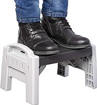 Rutschfester Trittleiter-Klappstuhl mit rutschfesten Seitenhandl/äufen,Trittleiter f/ür Heim und B/üro,5Step Guoyajf Klappbare 4-Stufen- 5-Stufen-Sicherheitsleiter