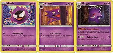 Evolution Set - Gengar Haunter Gastly - Crimson Invasion 38/111 Rare Card lot