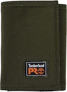 Timberland PRO mens Cordura Velcro Nylon RFID Trifold Wallet With ID Window Wallet