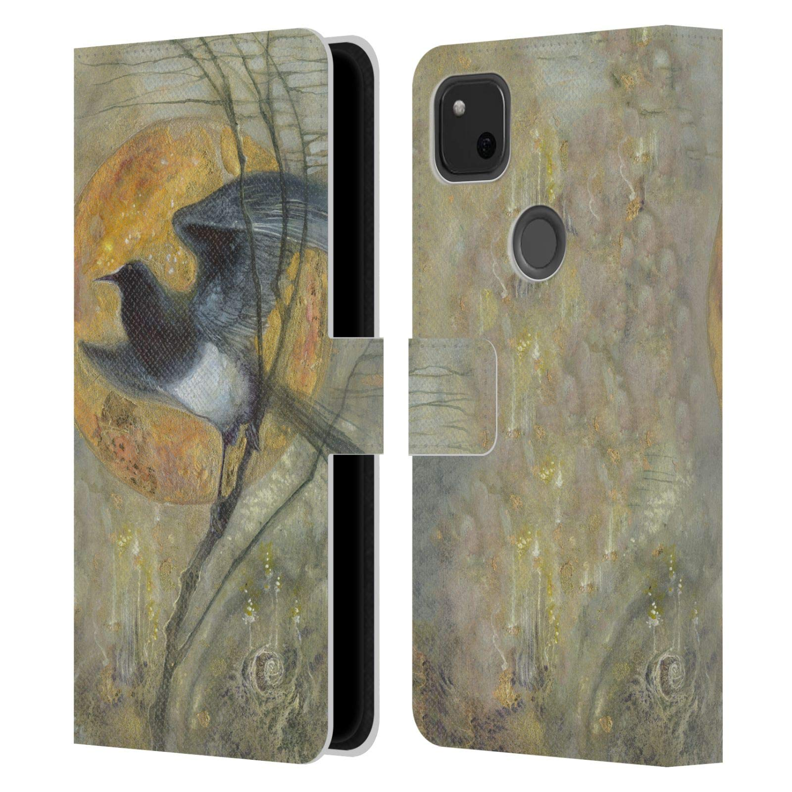 Head Case Designs Officiel Stephanie Law Pie Rêves Étranges Coque en Cuir à Portefeuille Compatible avec Google Pixel 4a