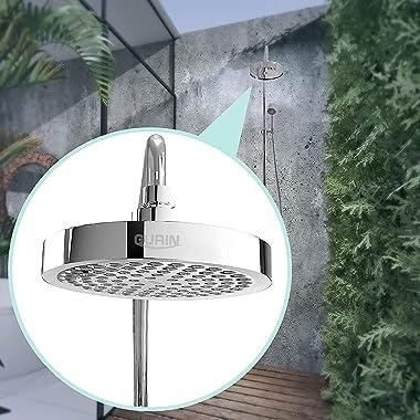 Gurin Shower Head High Pressure Rain, Luxury Bathroom Showerhead with Chrome Plated Finish, Adjustable Angles, Anti-Clogging