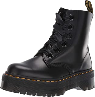 Womens Dr Martens Molly Buttero Leather Lace Ribbon Smooth Black Boots US 5-11