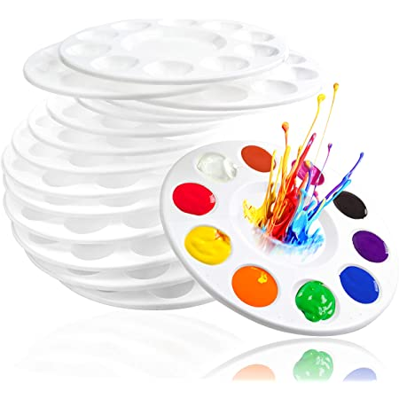 10pcs Colourful Butterfly Design Plastic Kids and Adults Painting Supplies Paint Palette Tray