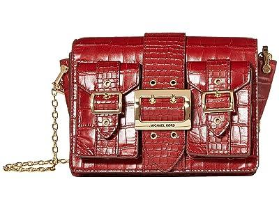 MICHAEL Michael Kors Hayden Medium Pocket Messenger (Brandy) Messenger Bags