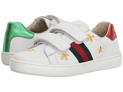 Gucci Kids New Ace V.L. Sneakers (Little Kid) (Soft Sand) Kid