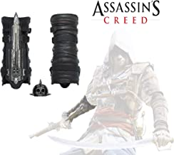 Acrim Toys Assassins Creed IV 4 Black Flag Pirate Hidden Blade Gauntlet Cosplay Replica with Skull Buckle Halloween Play