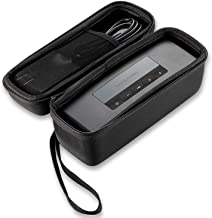 Caseling Hard Case Fits Bose soundlink Mini II (1 and 2 Gen) Portable Wireless Speaker Charger Cable and Accessories - Fits with the Bose Silicone Soft Cover - Storage Carrying Travel Bag