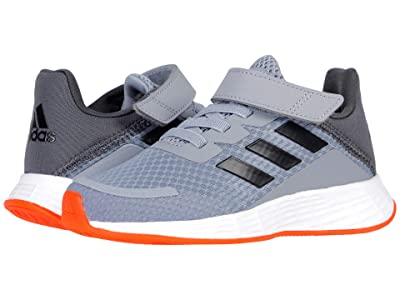 adidas Kids Duramo SL (Little Kid) (Halo Silver/Iridescent/Solar Red) Kid