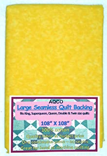 Quilt Backing, Large, Seamless, from AQCO, Vibrant Yellow, C44395-502