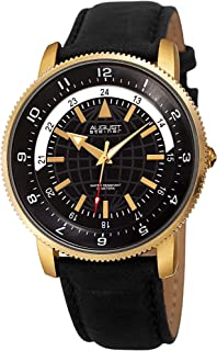 August Steiner Men's Quartz Watch, Analog Display And Leather Strap