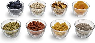 Libbey Small Glass Bowls with Lids, 6.25 ounce, Set of 8, Clear, 3.45-inch -