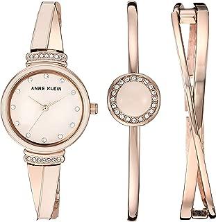 Anne Klein Set de reloj y pulsera con cristales Swarovski para mujer