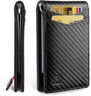 Minimalist Slim Bifold Front Pocket Wallet with Money Clip for men,Effective RFID Blocking & Smart Design