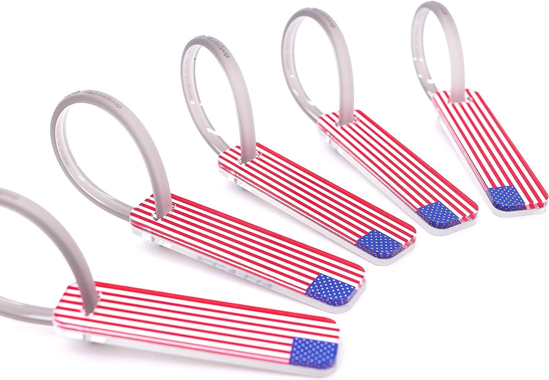 USA Flag Travel Luggage Tags Small 5pcs